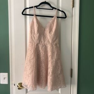 Lulu's Keepsake pink lace dress